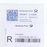 Briefzusatzleistung Per Frankiersystem