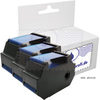 3er-Set Frankierprofi Farbbandkassette blau für Francotyp-Postalia T1000, optimail Serie Frankiermaschine