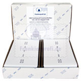 1.000 Frankierprofi Frankieretiketten 160 x 45 mm doppelt weiß
