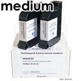Frankierprofi Kartuschen-Set medium blau für Francotyp-Postalia PostBase Frankiersystem